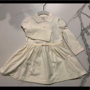 NWT Ralph Lauren cream long sleeve dress 12 mo